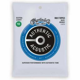 Martin Extra Light 80/20 Bronze Acoustic Guitar Strings 10-47