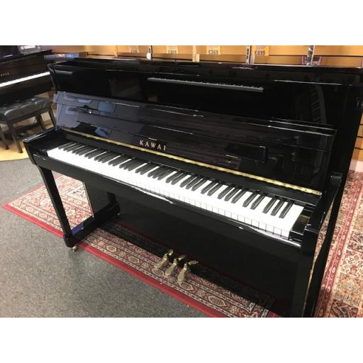 Kawai K200 Upright Piano Polished Ebony (Ex-Display Model)