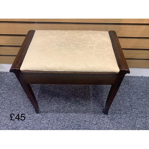 Wooden Piano Bench with Storage